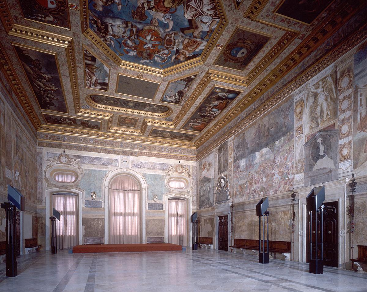 Salone Del Parlamento del Castello Di Udine con affreschi di Giovanni da Udine