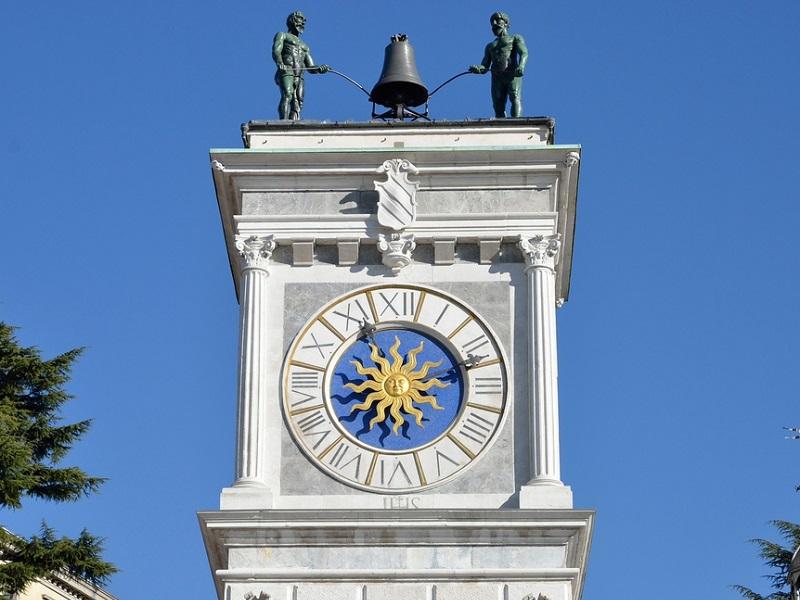 La Torre dell'Orologio di Udine fu progetta da Giovanni da Udine