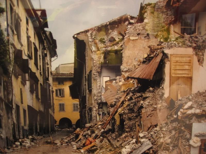 Il terremoto del Friuli, case distrutte