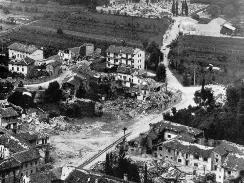 La distruzione del terremoto del Friuli del 1976