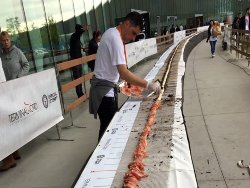Il grissino più lungo del mondo, porzionatura