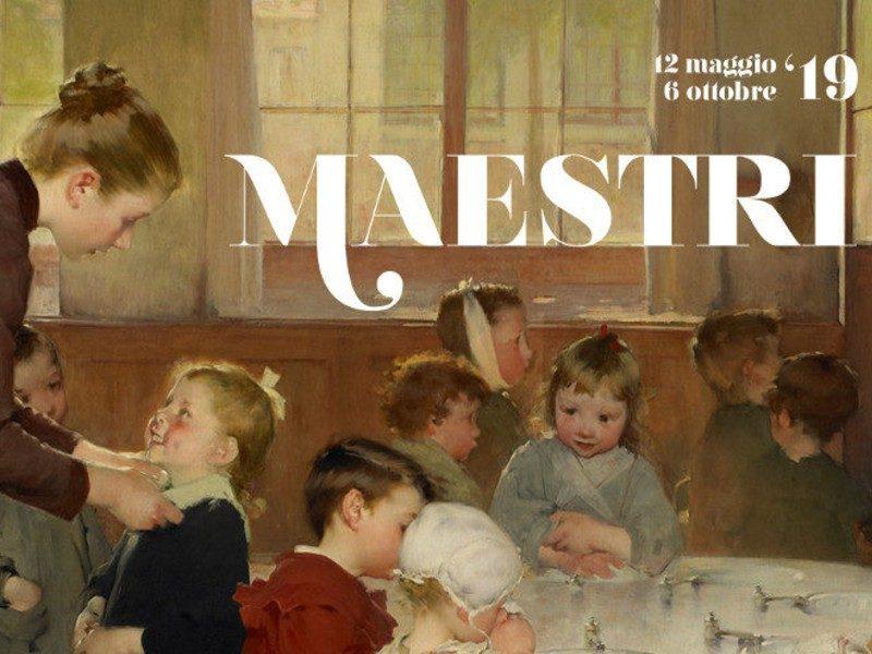 La scuola materna di Geoffroy, copertina della locandina della mostra di Illegio