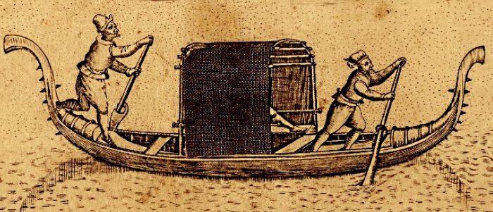 "Stampa raffigurante una gondola ""sine delphini""- British Museum"