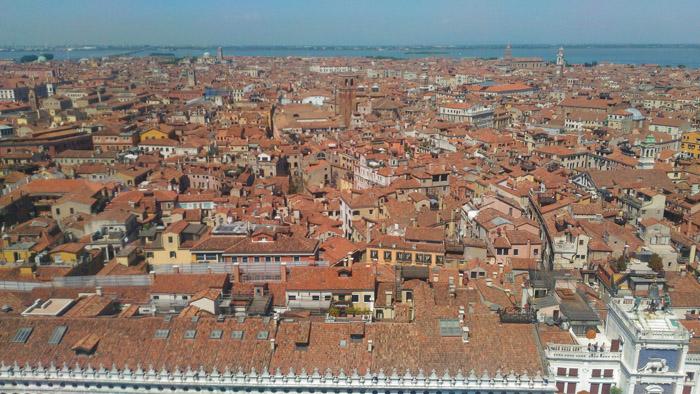 vedere Venezia dall'alto