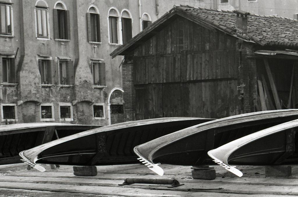 Una immagine degli anni 70 dello Squero di San Trovaso