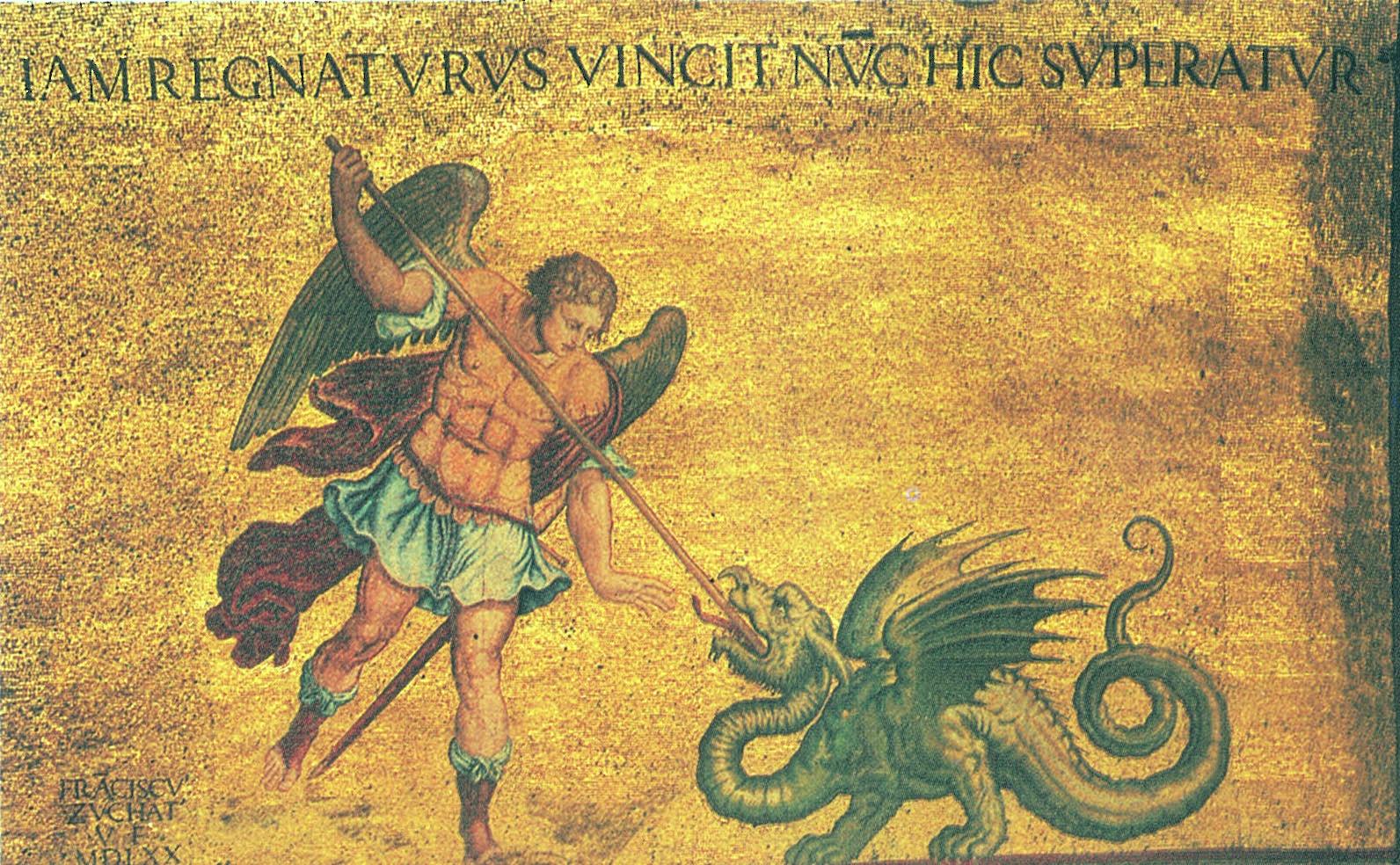 San Michele che combatte il drago - Basilica di San Marco