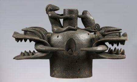 Guggenheim - una maschera Bifronte realizzata con il metallo