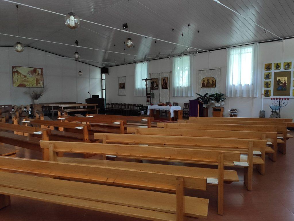 La parrocchiale dell'Annunziata da dentro