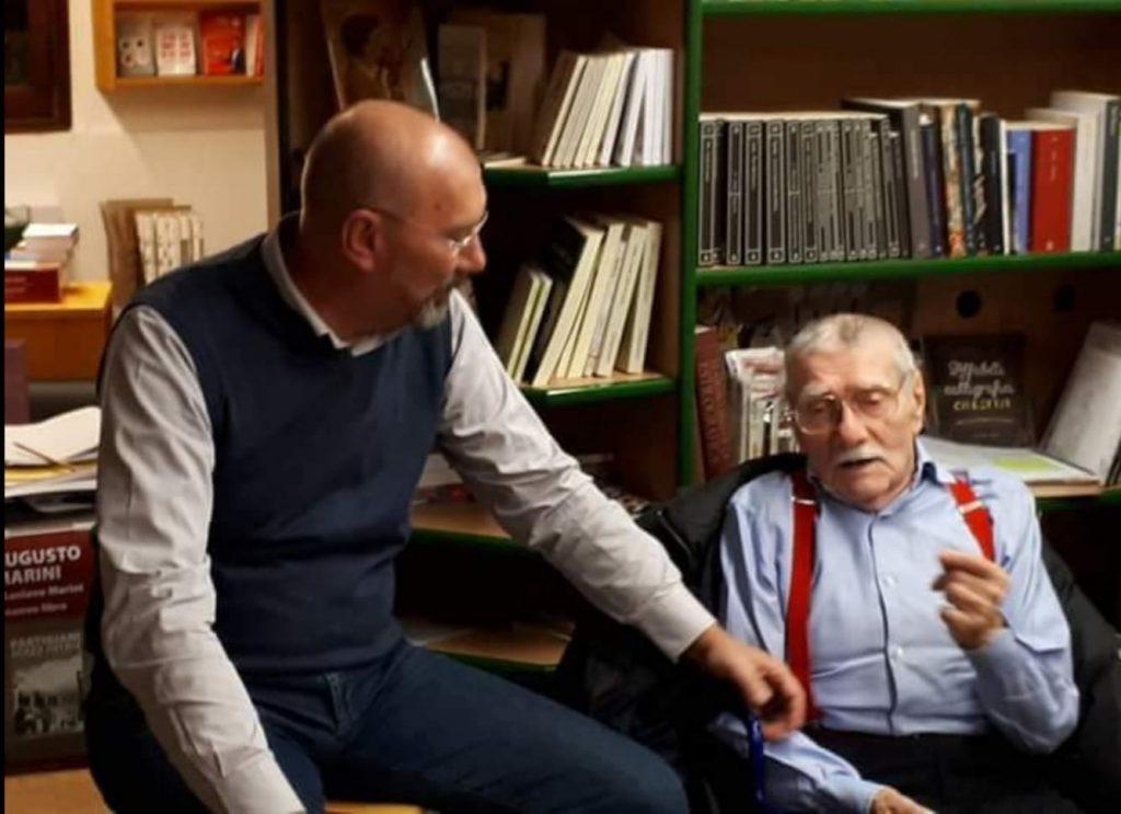 Luciano Marini con il padre Augusto Marini