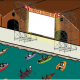 Barche Con Spettatori Al Drive In