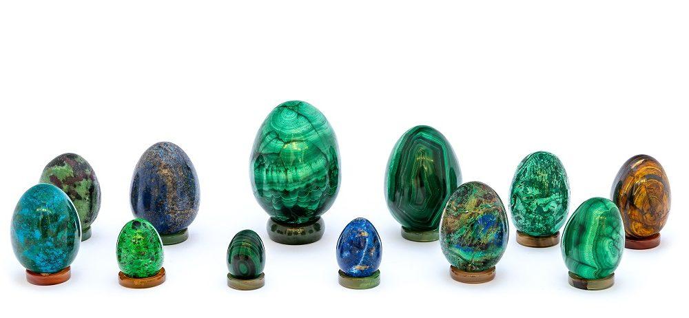 Collezione Uova In Pietre Dure Asta Avapo