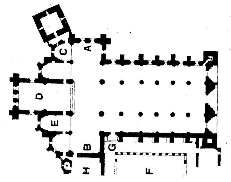 Pianta della basilica di Sant'Andrea