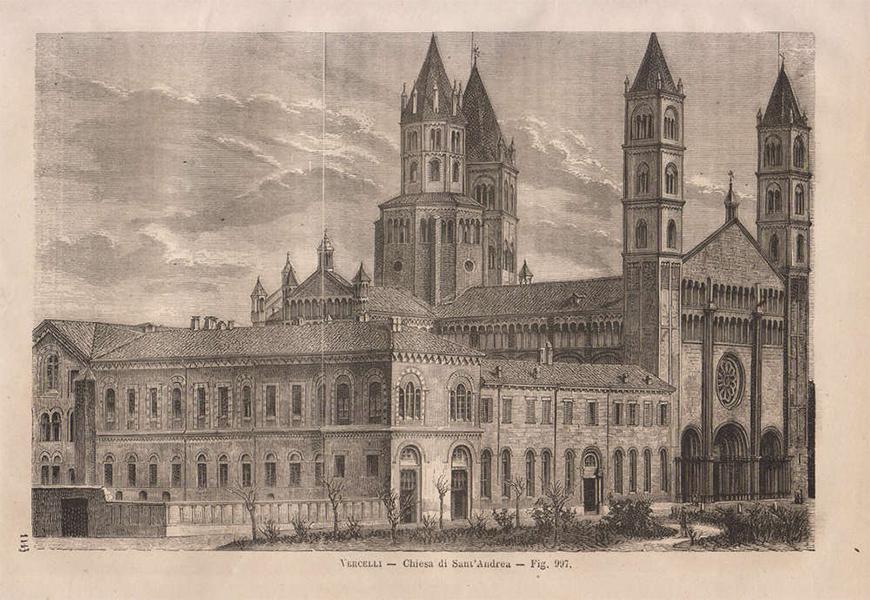 Stampa del 1865 della Basilica di Sant'Andrea