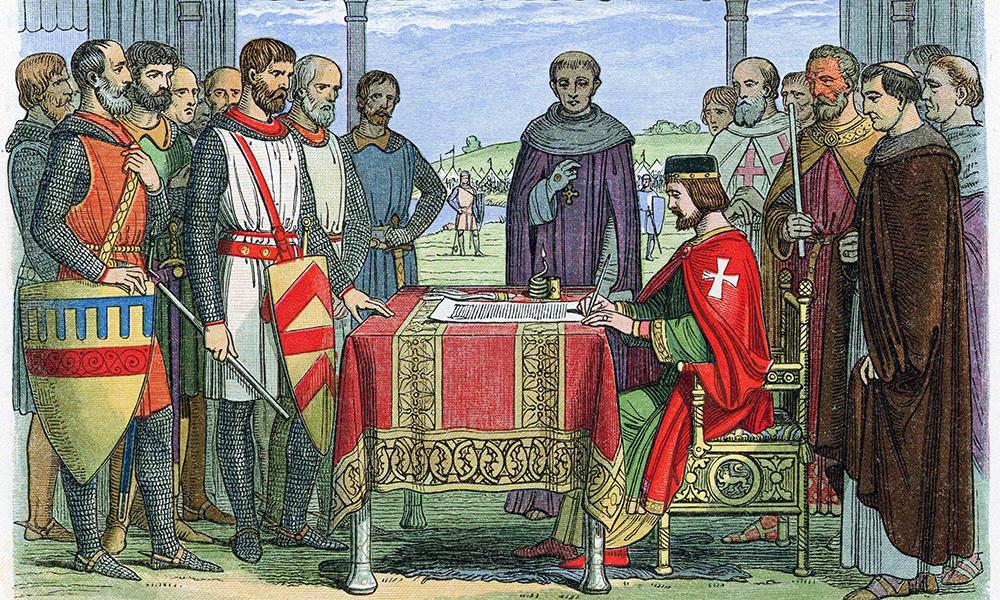 La firma della Magna Charta
