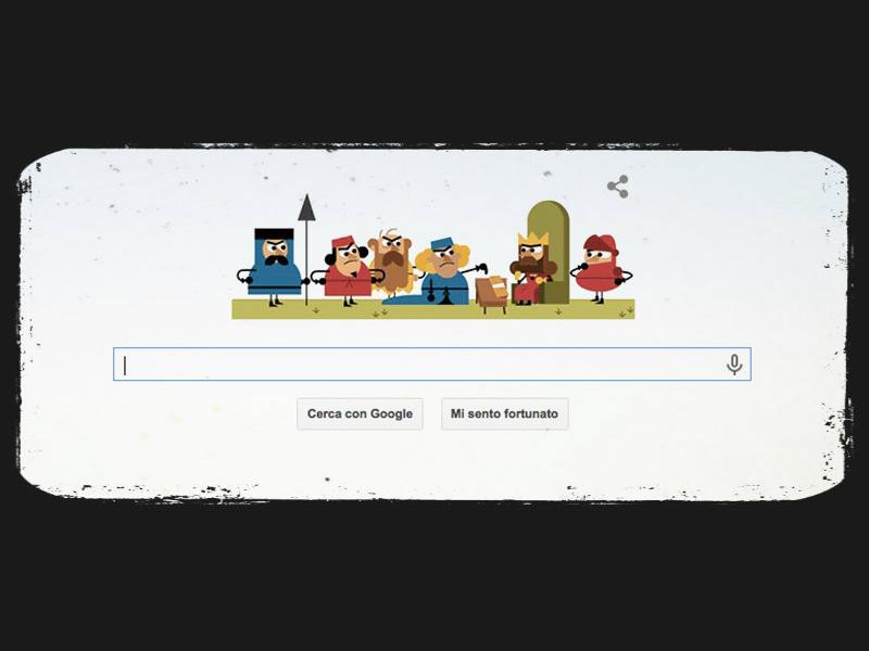 Doodle di Google per gli 800 anni della Magna Charta.
