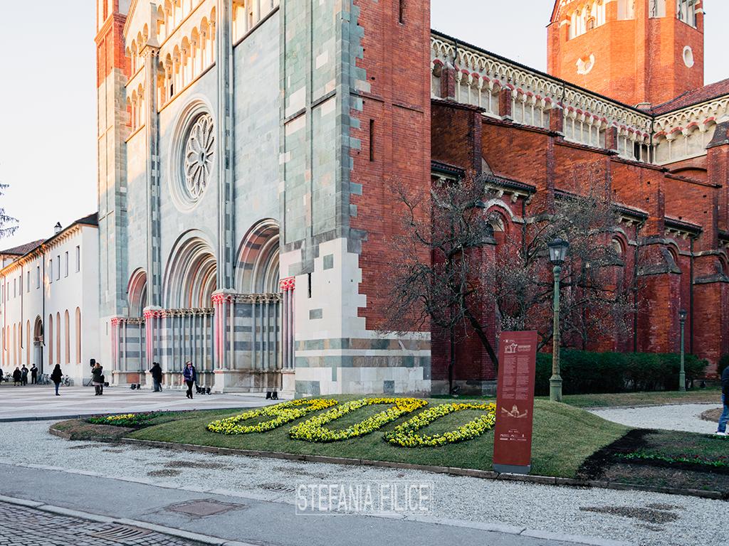 L'esterno dell'Abbazia di Sant'Andrea