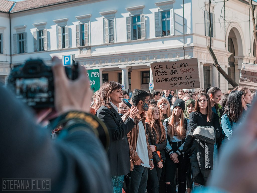 La sindaca Maura Forte al Fridays for Future