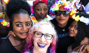 Foto di gruppo con Giulia Bodo