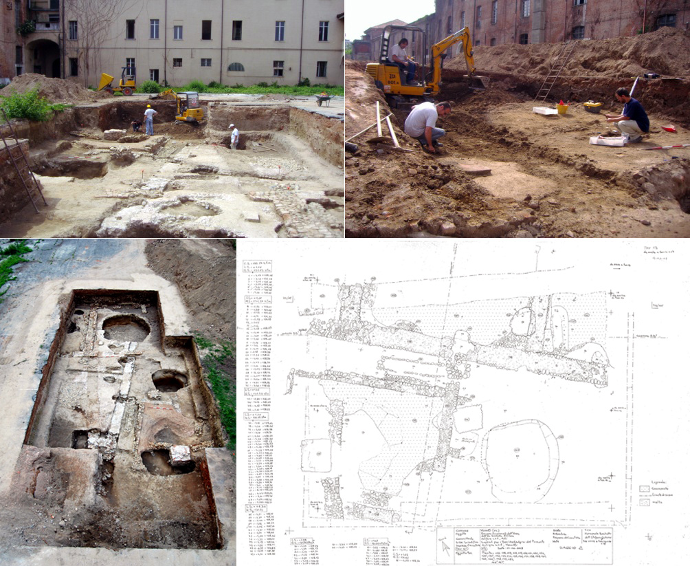 gli scavi intorno alla caserma Giuseppe Trombone de Mier