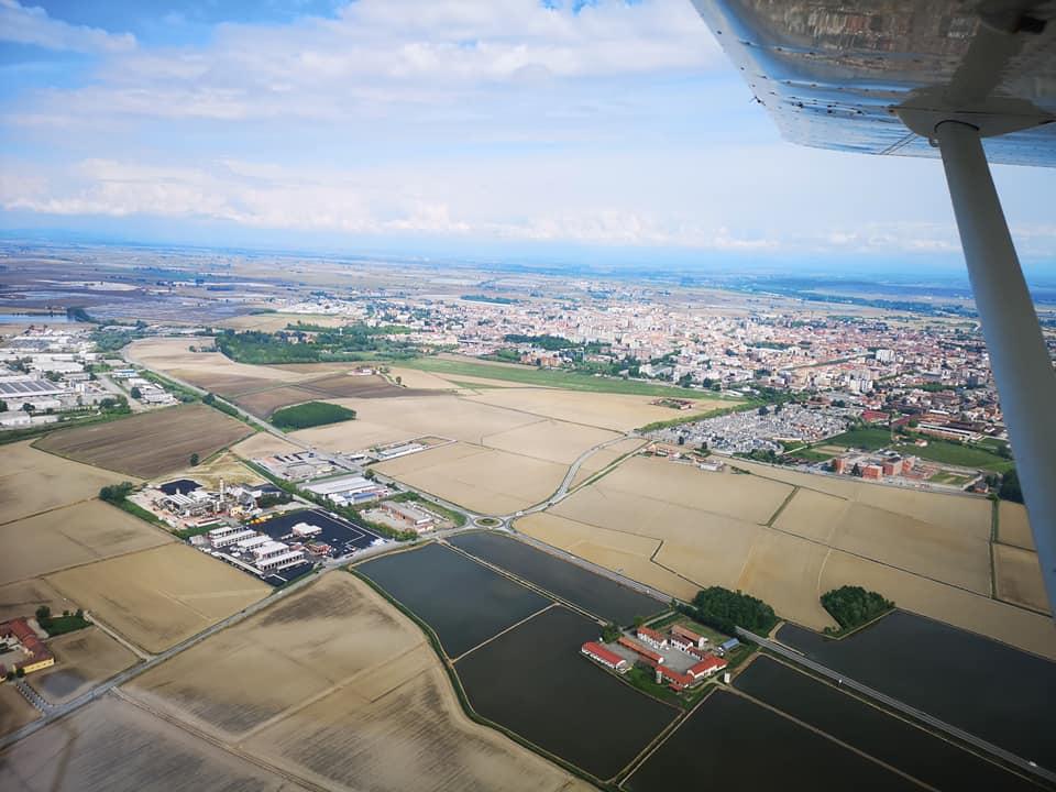 vercelli vista dall'aereo