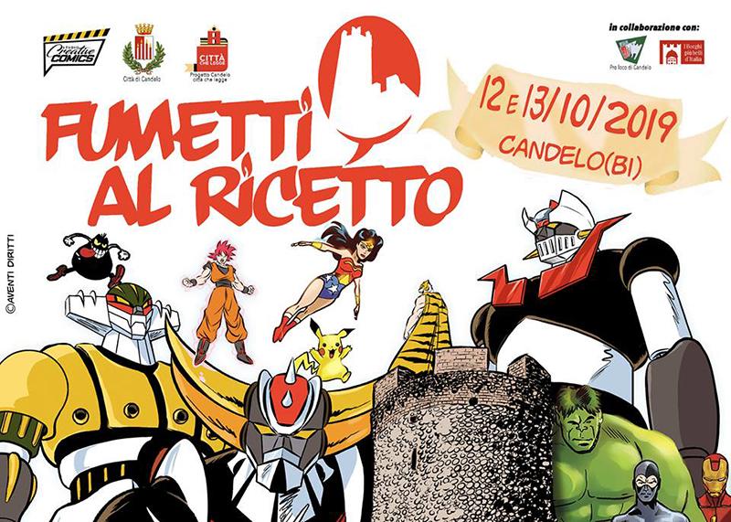 Ricetto di Candelo - locandina della mostra del fumetto 2019
