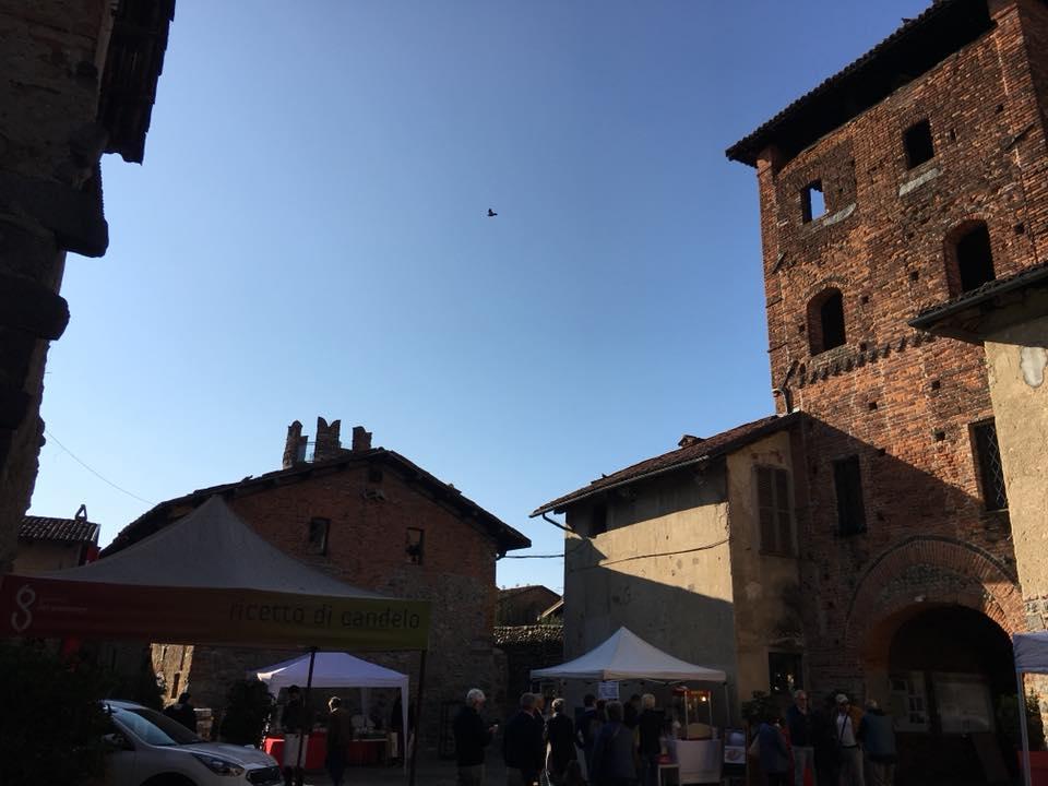 il centro del borgo di Ricetto Di Candelo