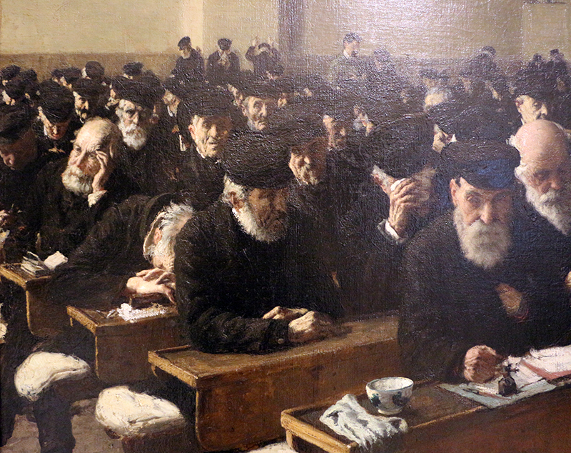 """I """"Giorni Ultimi"""" di Angelo Morbelli che ritrae tanti uomini anziani"""