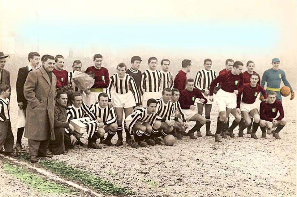 Eusebio Castigliano con la squadra della Juve
