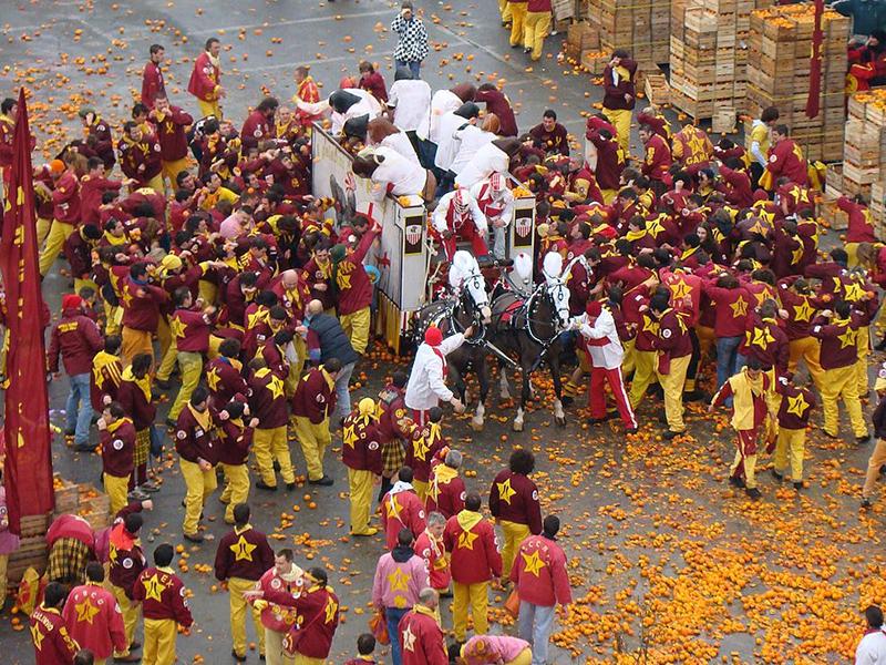 Carnevale di Ivrea, in Piemonte