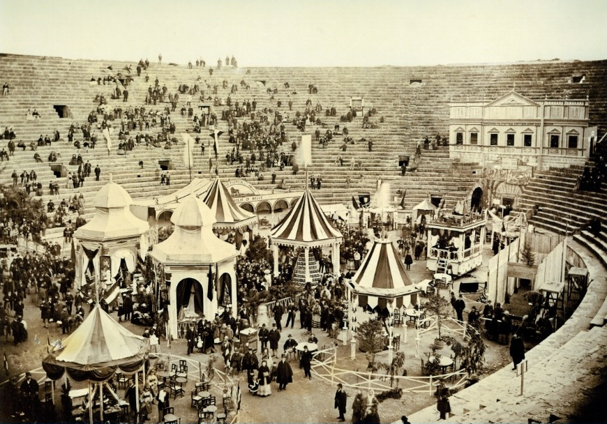 Wine Fair In Verona In 1876