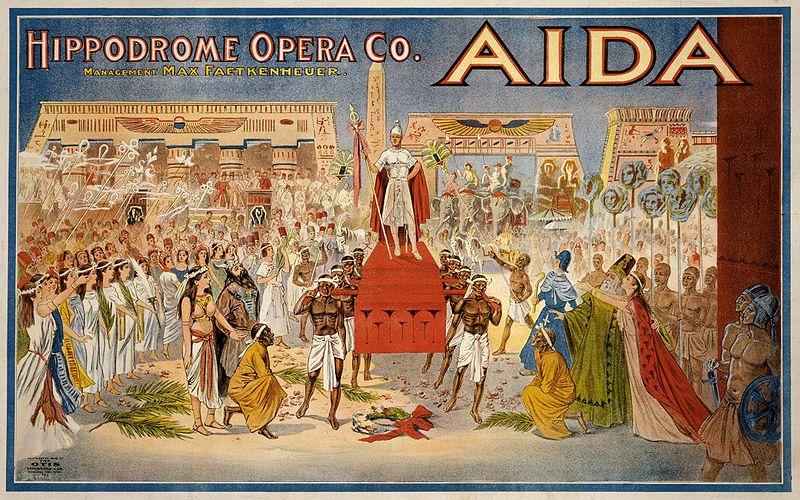 un poster dell'Aida del 1908