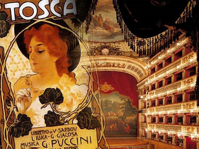 Locandina della Tosca di Puccini