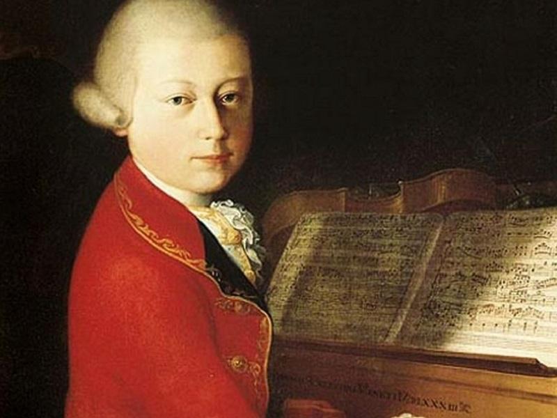 Il dipinto di Saverio della Rosa che raffigura Mozart A Verona