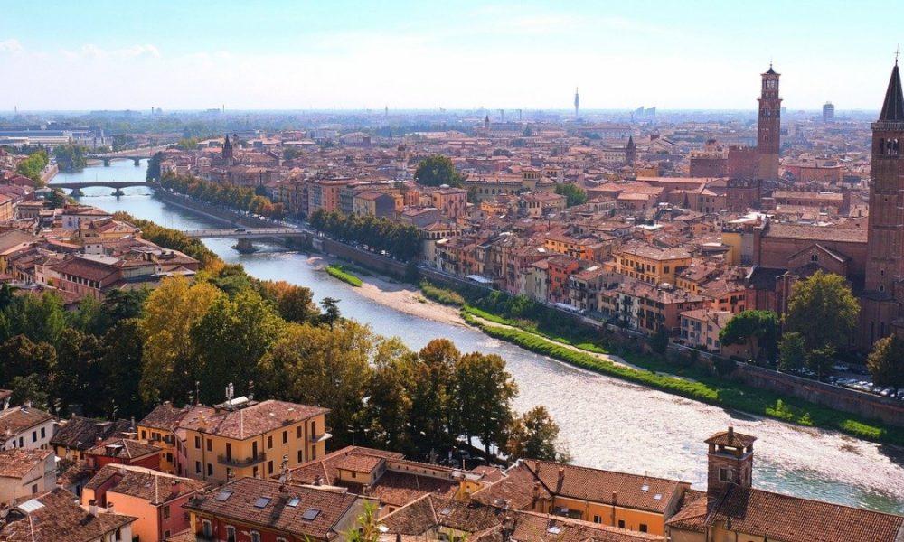 Vista Verona dall'alto