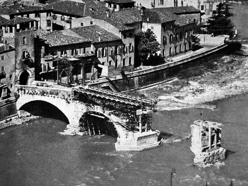 Ponte Pietra Ricostruzione Liberazione