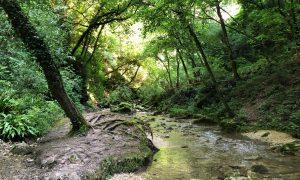 Entrare nel Parco delle Cascate di Molina
