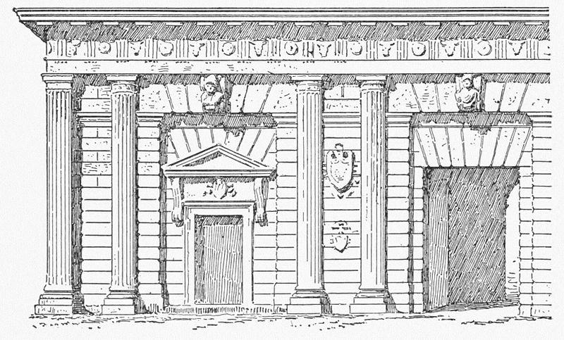 Porta Palio In Un Disegno Da Character Of Renaissance Achitecture 1905