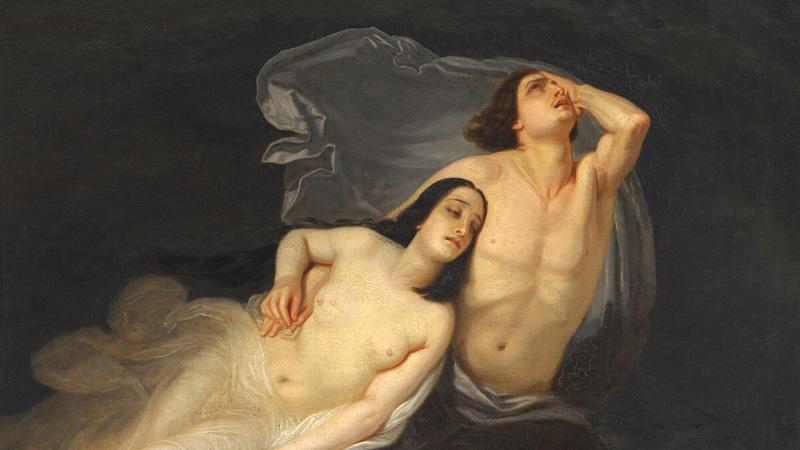 Paolo e Francesca nel vortice infernale