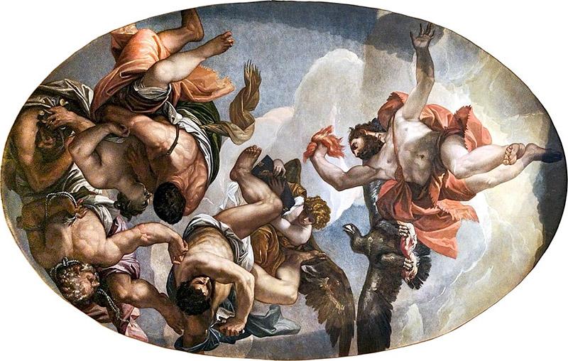 Paolo Veronese - Giove Fulmina I Vizi