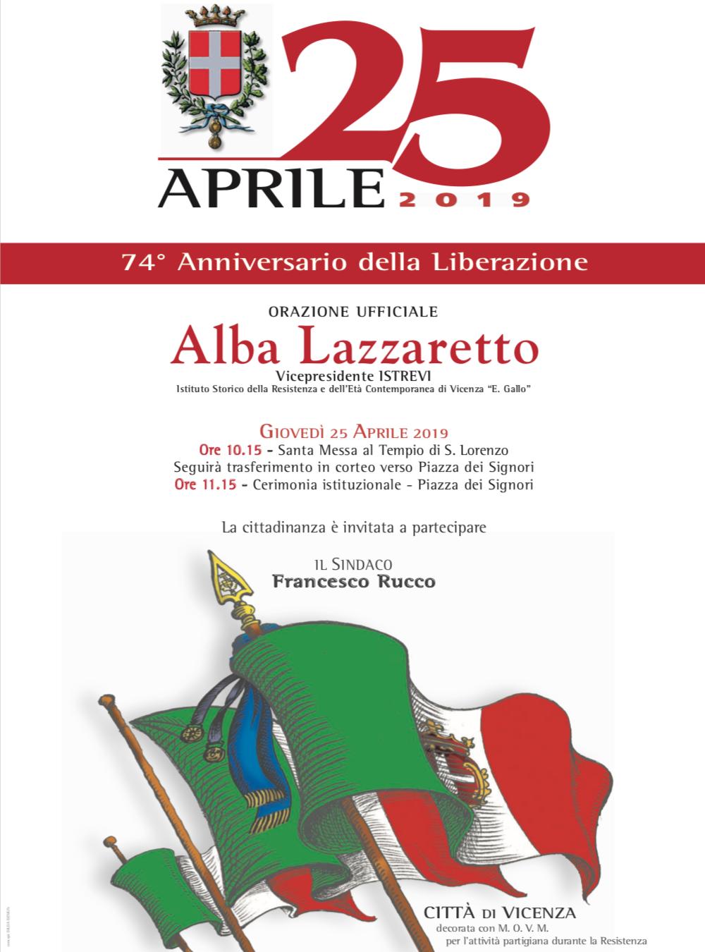 25 Aprile Vicenza Locandina
