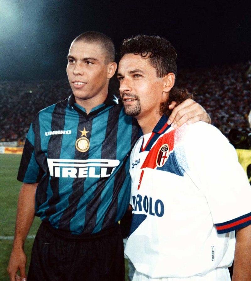 Roberto Baggio - Baggio E Ronaldo in foto