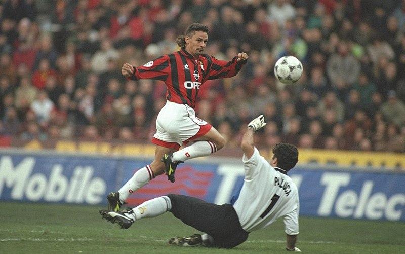 Roberto Baggio - Baggio Nel Milan contro Pagliuca
