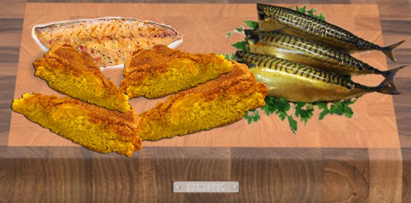 Renga e scopetòn - Tagliere con polenta a fette e pesce da abbinare