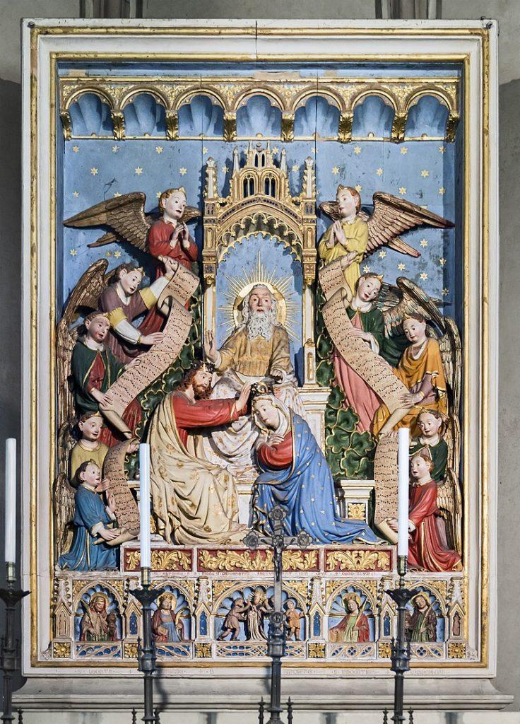 fondo in lapislazzulo - Incoronazione Della Vergine in chiesa