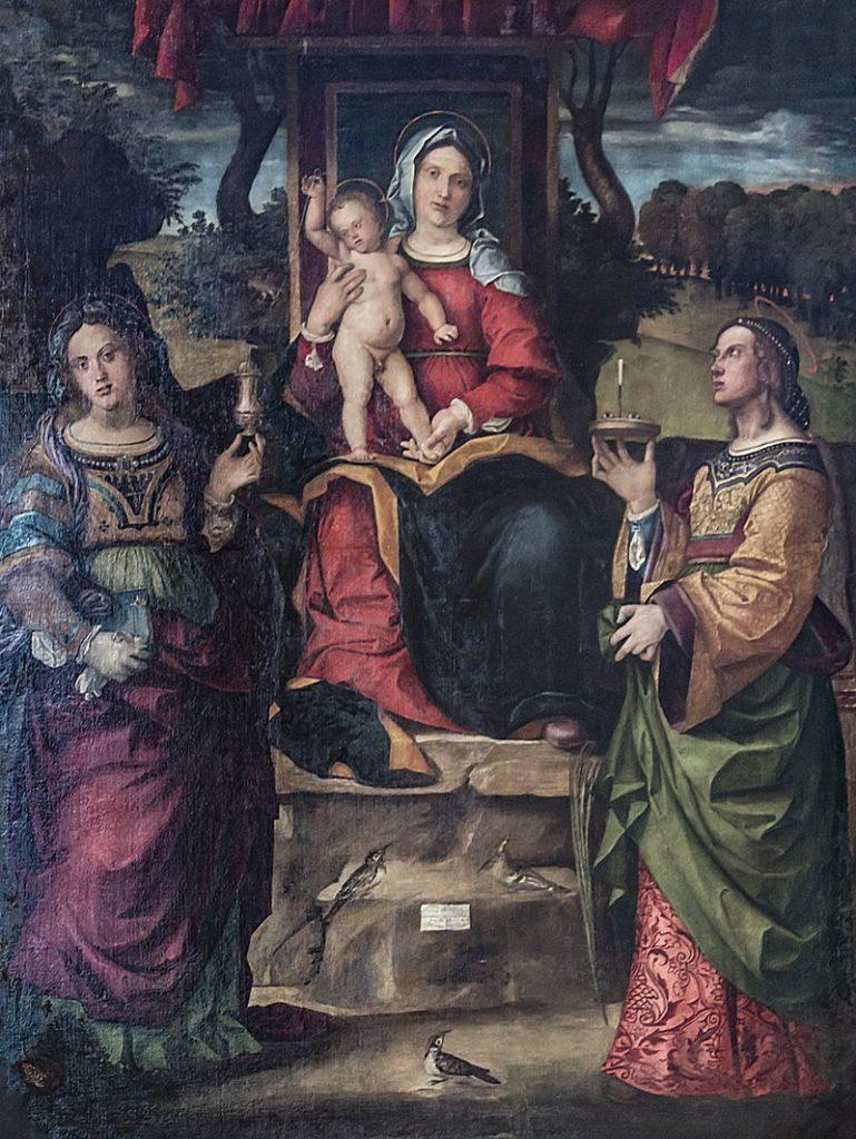 La cattedrale di Vicenza - Madonna in un dipinto nella cattedrale