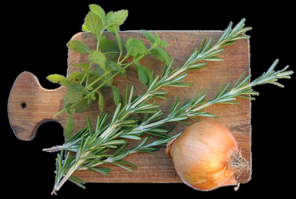 Il coniglio alla vicentina - Rosmarino e cipolla