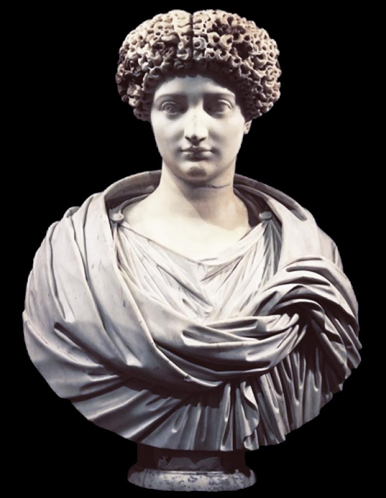 Museo di Santa Corona - Mezzo Busto di donna romana con parrucca