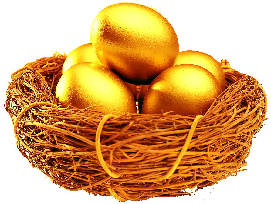 Xe Pasqua Xe Pasqua - Uova Dorate in un nido di uccellini