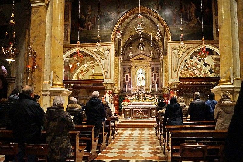 Monte Berico - Interni Chiesa del santuario