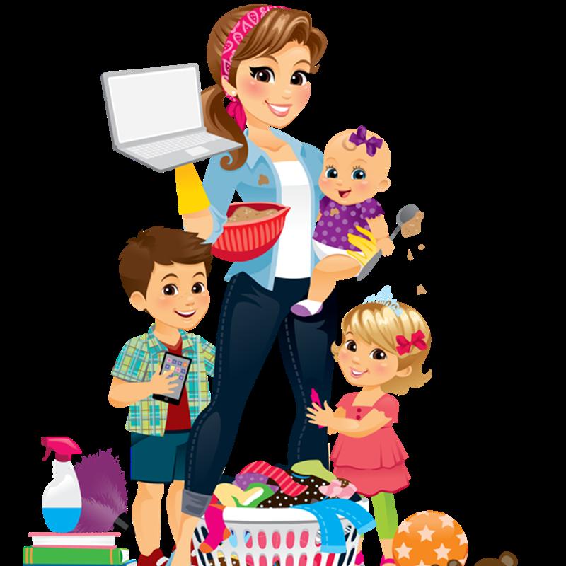 Mamme vicentine - Madre Con Pc che si destreggia con i bambini